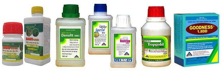Phân loại thuốc bảo vệ thực vật