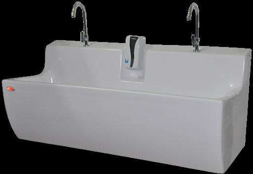 Bồn rửa tay vô trùng 2 vòi cho phòng mổ