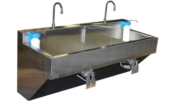 Bồn rửa tay y tế hai ngăn