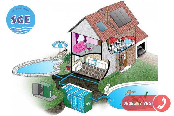 Cách xử lý nước thải sinh hoạt trong gia đình